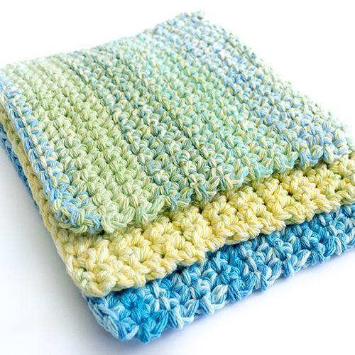 Easy Thick Crochet Wash & Dishcloths   Pinterest   Handarbeiten
