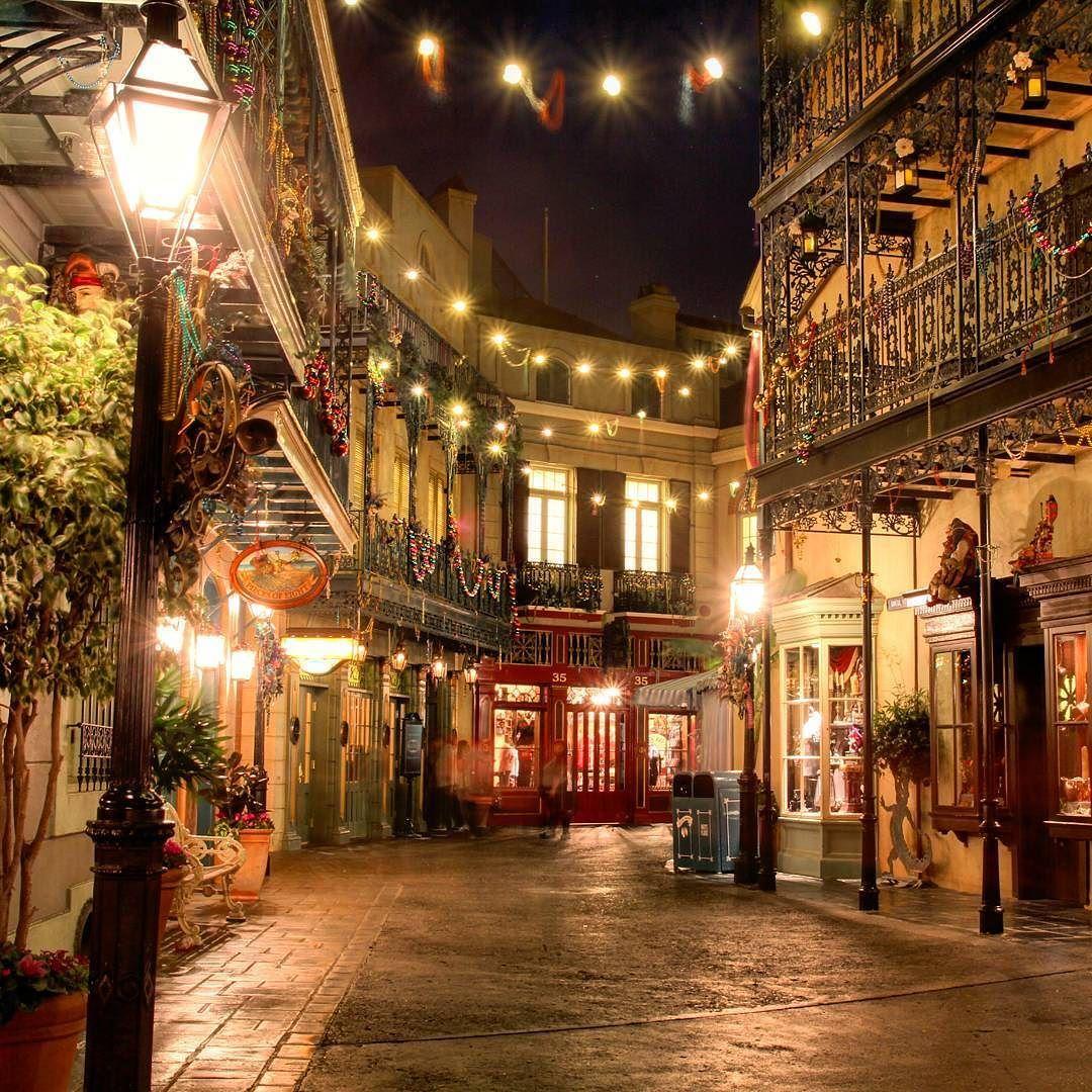 I Love New Orleans Square At Night. #disneyland60 #disneyland By  Disneylandmansinstapics