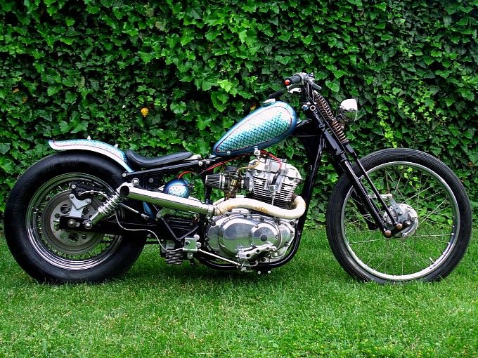 one sweet suzuki gs500 chopper from anarchy custom romania. Black Bedroom Furniture Sets. Home Design Ideas
