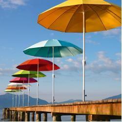 Photo of Pagodenschirm Sonnenschirm mit Kurbel und Knickgelenk ohne Schirmständer WeishäuplWeishäupl