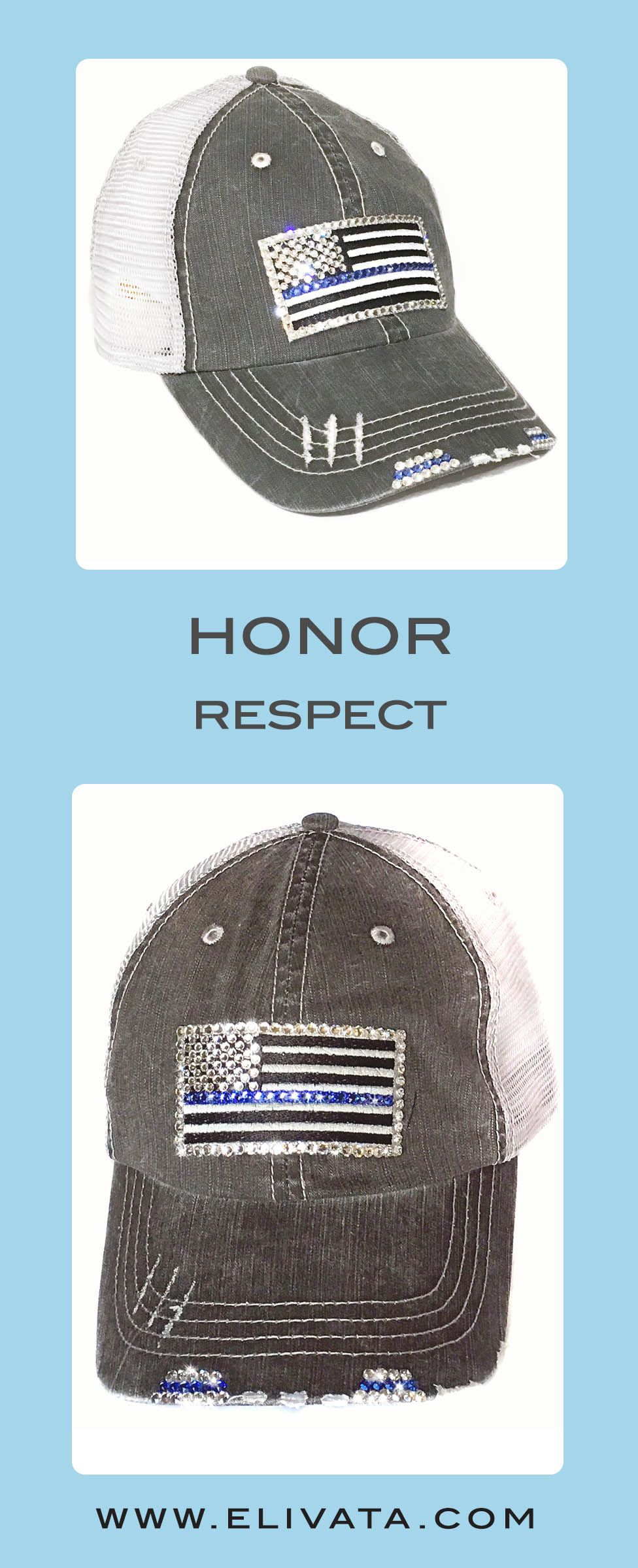 35bfe73733336 Thin Blue  timeless design 861b4 a6b88 Blue Line Flag Back The Blue Flag  Blue Line Hats Police wife ...