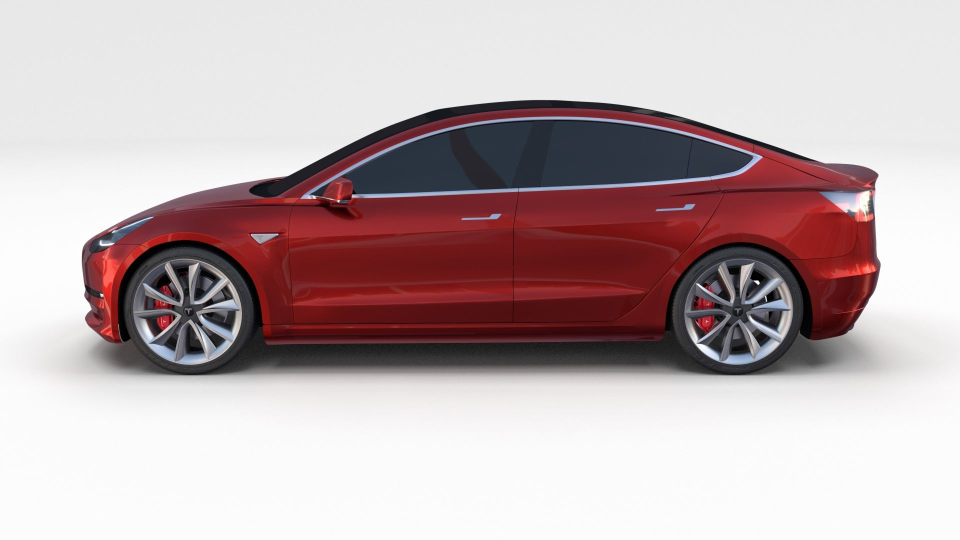 Tesla Model 3 Red #Tesla, #Model, #Red | Model, Red, Car