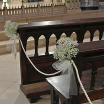 Arreglos Para Bancos Iglesias Decoración De Iglesias Bodas Decor Entryway Tables Wedding