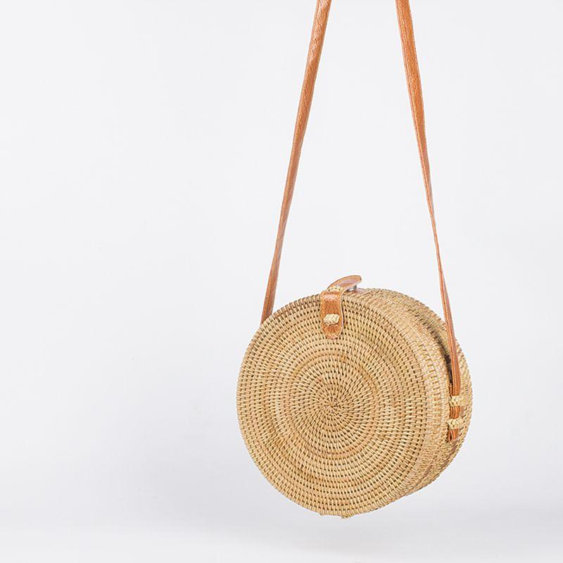 eecfbca053c1 ARPIMALA 2017 Bohemian Straw Bags for Women Small Circle Beach ...