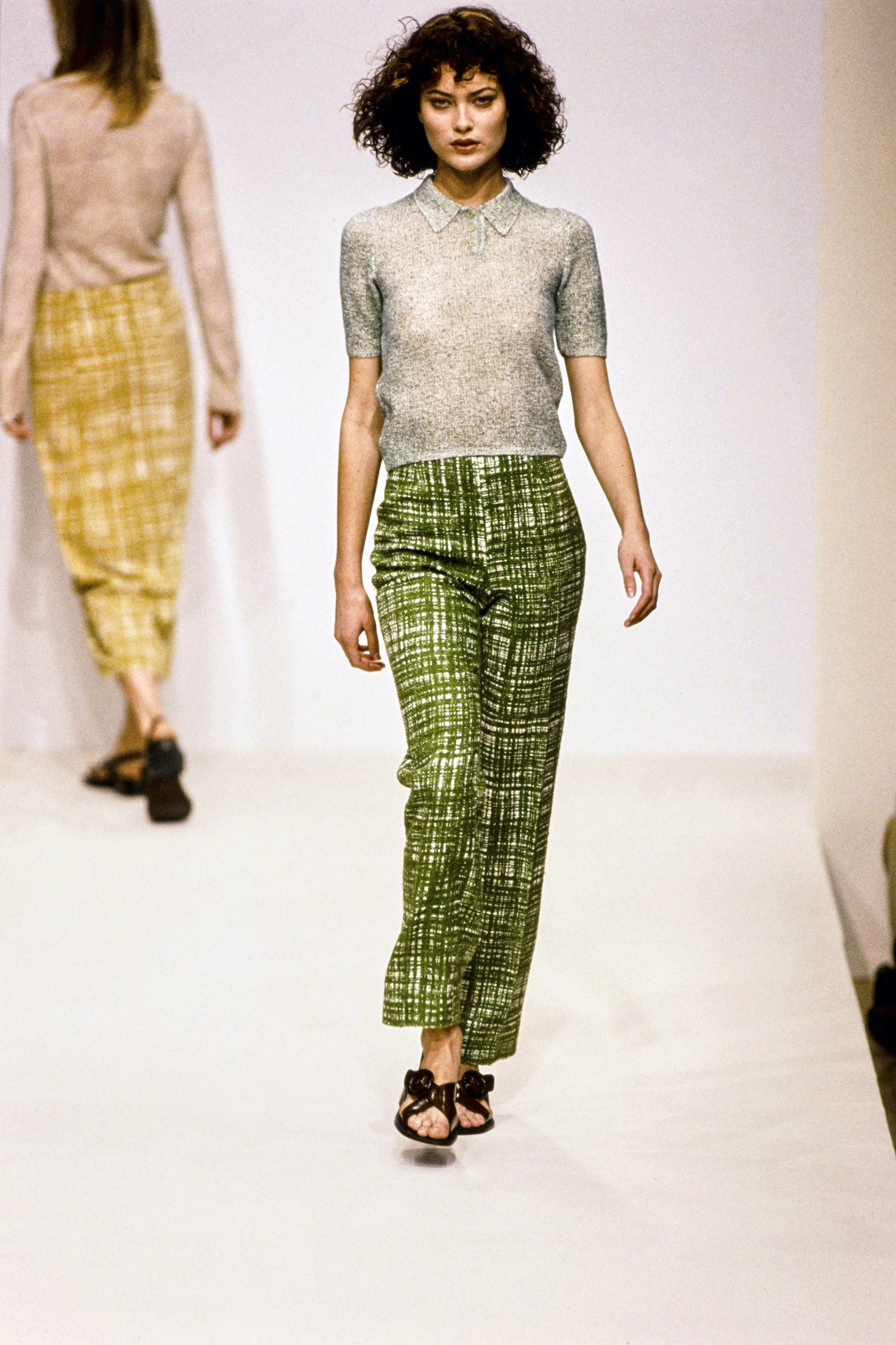 Prada Spring 1996 Ready-to-Wear Fashion Show - Kristen McMenamy–