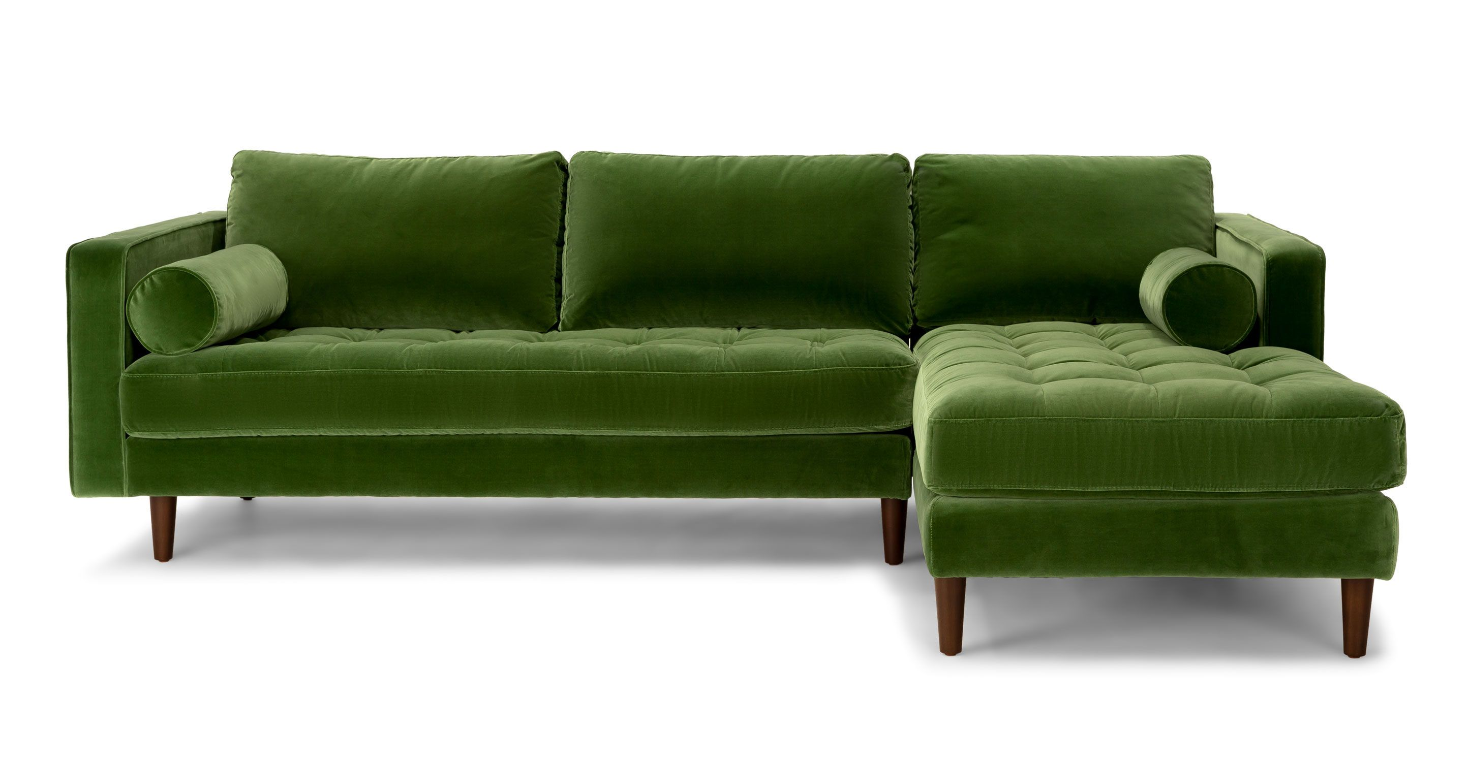 Sven grass green right sectional sofa sectionals article modern mid century and scandinavian furniture