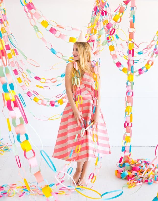 11 Dorm Party Essentials To Last All Year Paper Chains Rainbow Paper Paper Garland