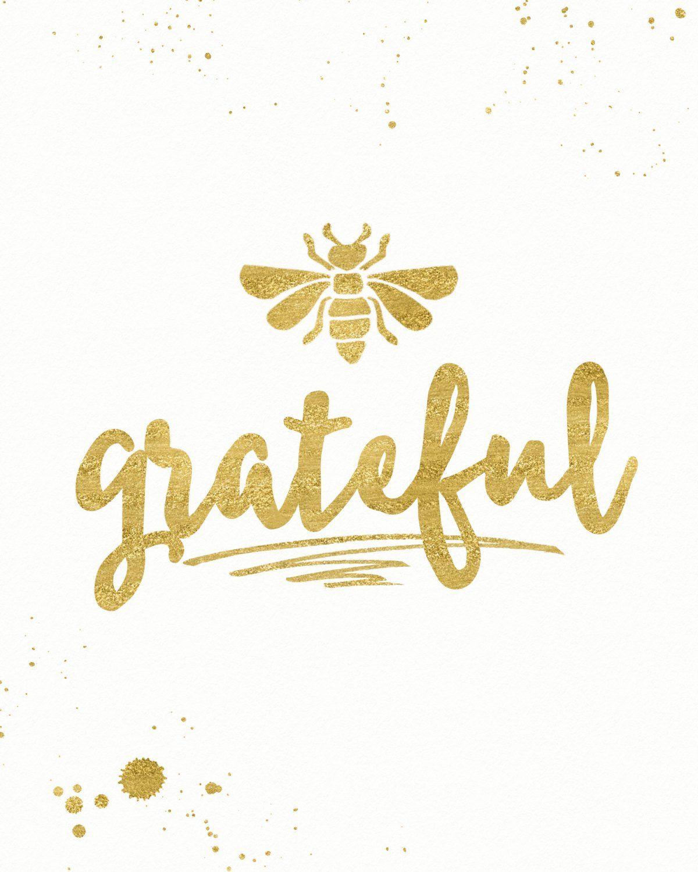 Be Grateful Wall Art, Gratitude Art, Digital Download, Thanksgiving ...