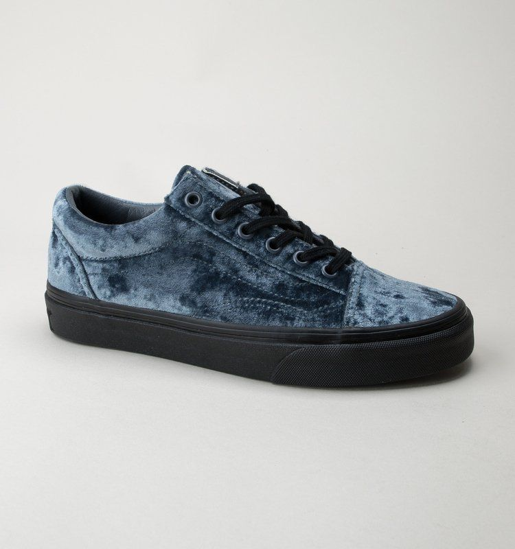 a54f71cc8c Vans Old Skool (Velvet) VN0A38G1QQS Grey-Black Womens Trainers ...