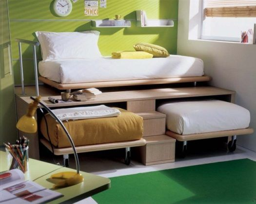 Dormitorios de dos camas II Recámaras pequeñas Pinterest Camas