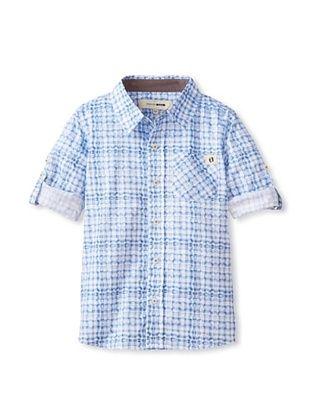 299025b8 60% OFF Hang Ten Gold Boy's Blue Crush Button-Up Shirt | Kids Boys ...