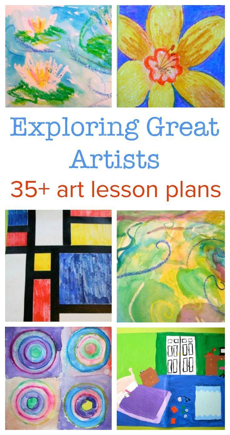 Exploring Great Artists complete art lesson plans