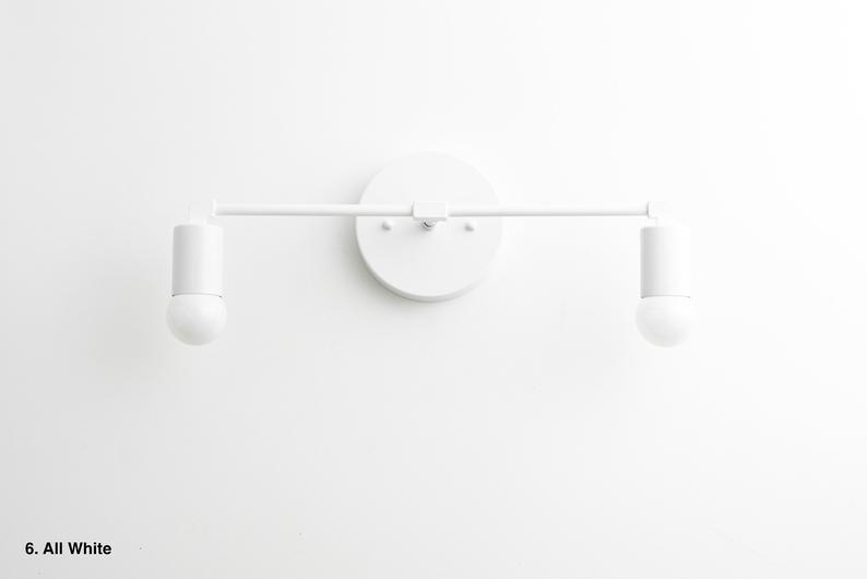 Photo of White Basin Light – Brass Bathroom Light – Basin Lighting – Basin Lights – Mid Century Modern – Basin Lamps – Model # 8412