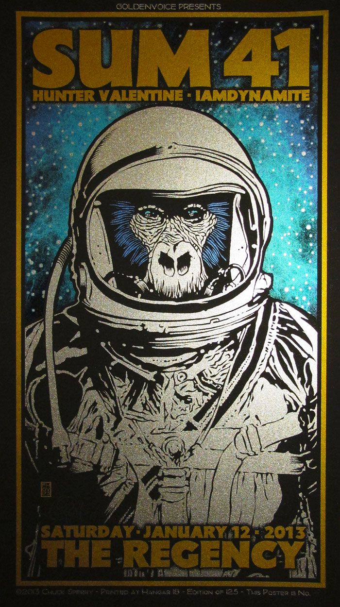 INSIDE THE ROCK POSTER FRAME BLOG: Chuck Sperry Sum 41 Poster ...
