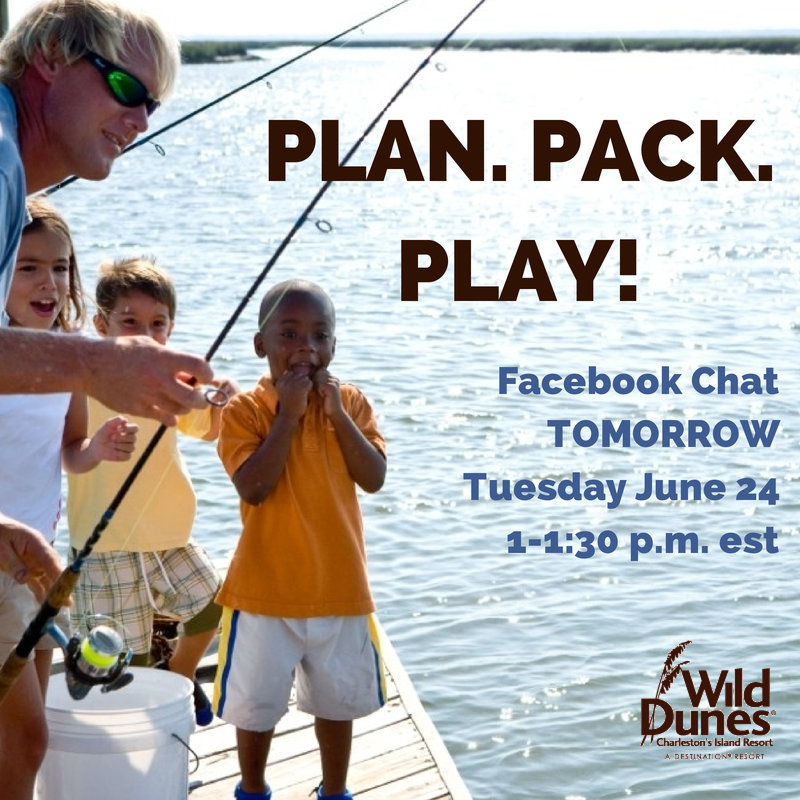 Incoming Summer 2014 Guests! Don't miss your chance to ask our Resort Guest Experience Manager, Katie Edwards, questions about your upcoming stay, Resort activities and 4th of July events or concierge recommendations for what to do and see around Charleston! Join us for a Facebook Live QA Chat at 1 p.m. TOMORROW on our Facebook wall at http://facebook.com/wilddunesresort.