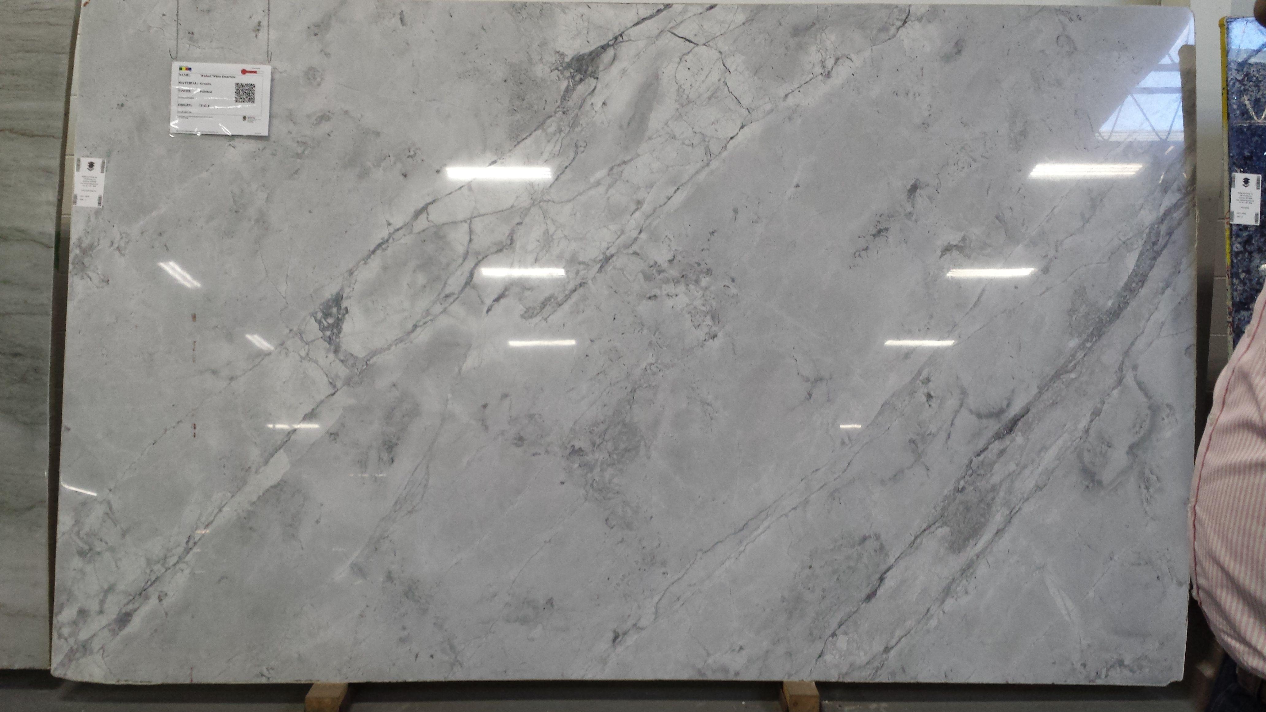 M G Wicked White Quartzite Granite Polished Italy
