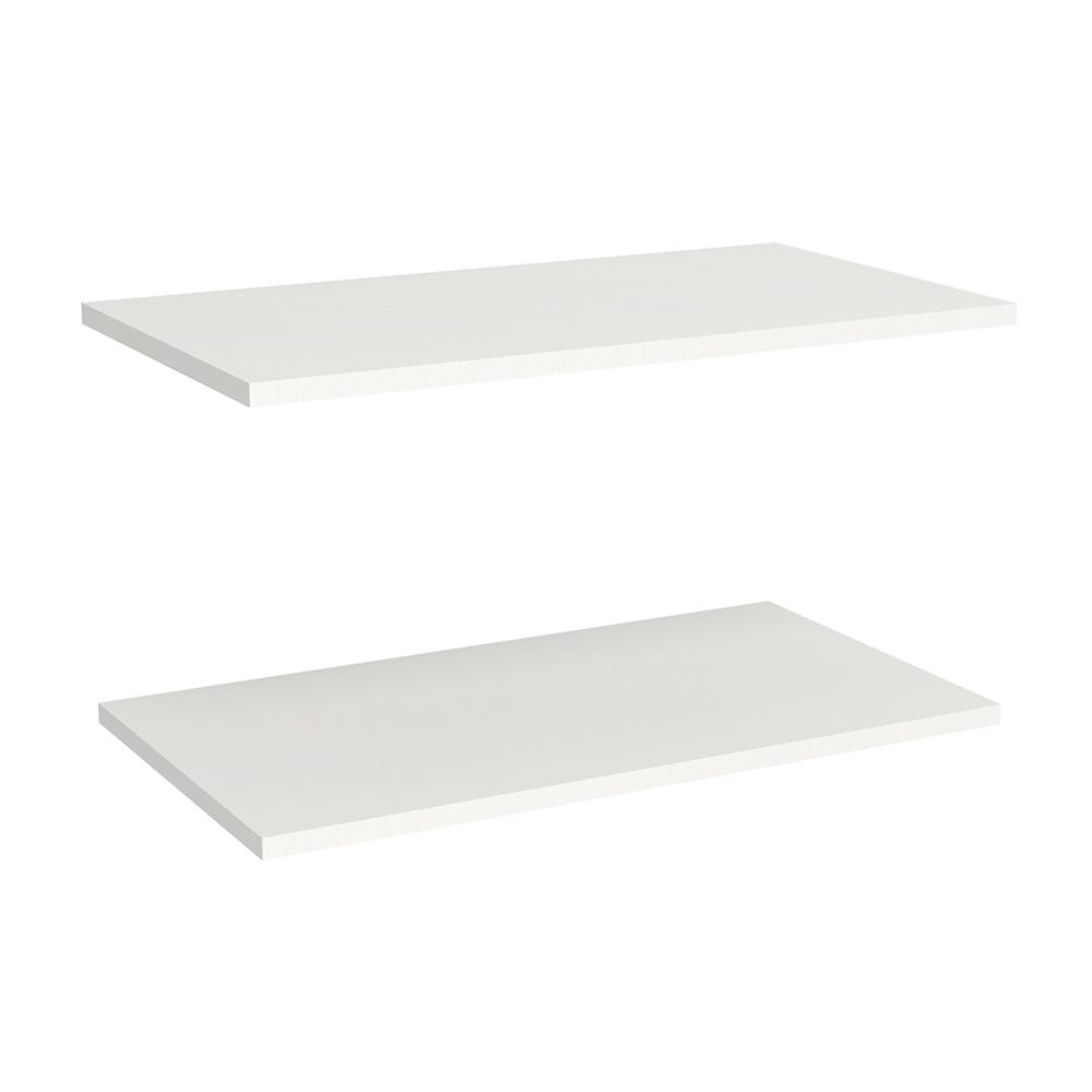 Closetmaid Impressions 23 In White Standard Laminate Extra Shelves For 25 In Standard Tower 2 Pack 14535 With Images Wood Closet Systems Closetmaid Extra Shelf