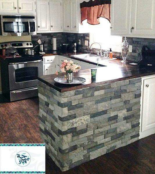 DIY Stone Backsplash with AirStoneI actually did this too