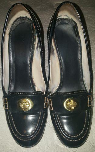 Coach shoes size 7 black leather gold accents high heels  https://t.co/ITLcOktXij https://t.co/ciZX8jiOt2