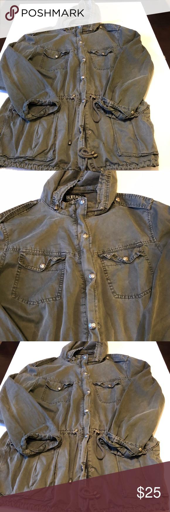 Buffalo David Bitton Jacket Olive Green Military Jacket Military Jacket Green Clothes Design [ 1740 x 580 Pixel ]