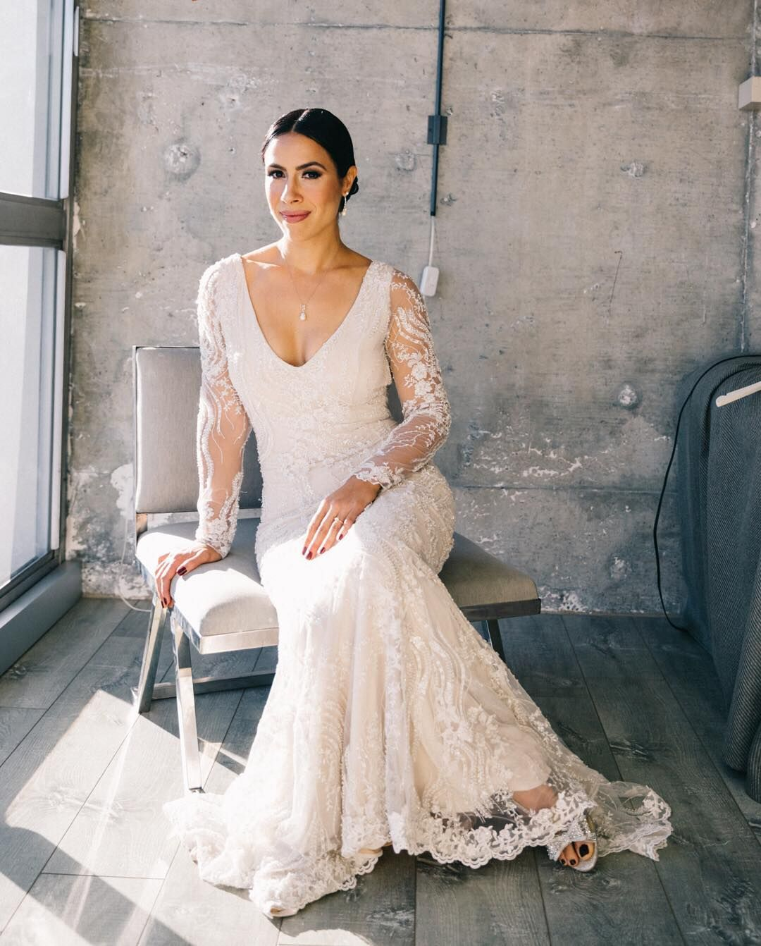 White Wedding Dress On Rent: Alexis Custom Designed Her Own Gown With Mario De La Torre