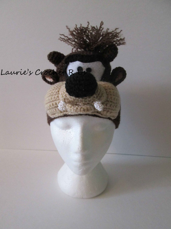 taz hat   Crochet (Animal Hats)   Pinterest   Bebe