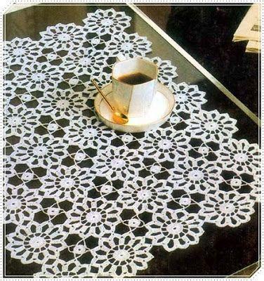 Crochet fabric crochet ganchillo patrones graficos - Centros de mesa de ganchillo ...