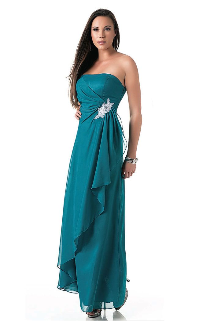 Teal colored bridesmaid dresses