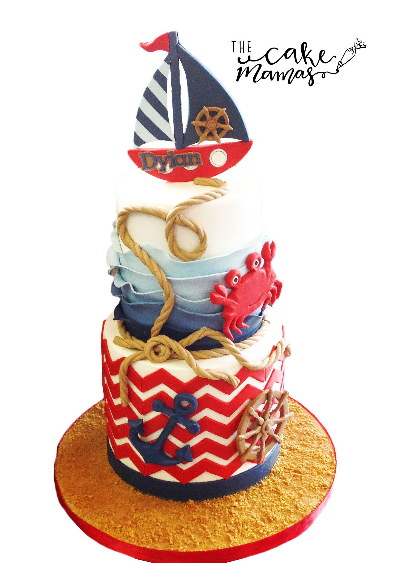 Swell Nautical Birthday Celebration Cake Call Or Email To Order Your Personalised Birthday Cards Veneteletsinfo