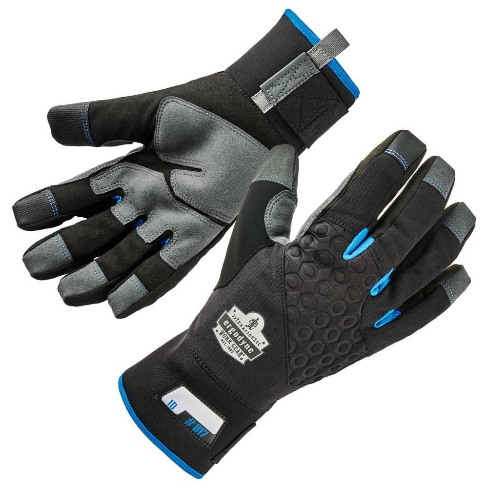Men/'s Thermal Insulated Double Layer Knit Lined Gloves