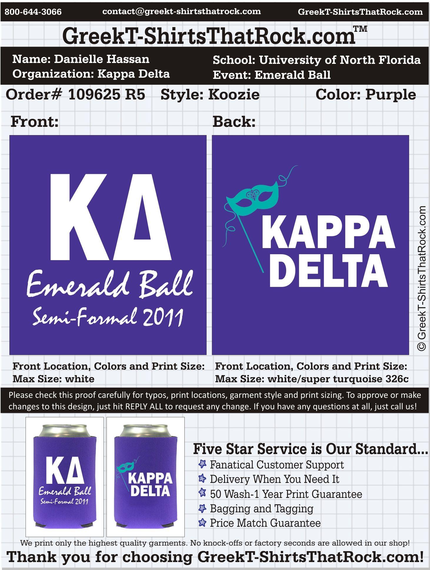 Kappa Delta Emerald Ball Semi-Formal  http://www.greekt-shirtsthatrock.com/