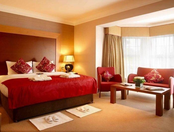 Merveilleux Belle Idée Quelle Est La Meilleure Couleur Chambre à Coucher Bien Aménagée  Rouge Et Beige