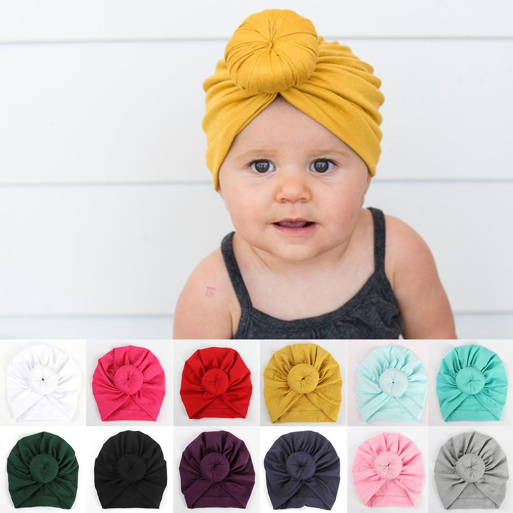 Cute Newborn Toddler Kids Baby Boy Girl Indian Turban Knot Cotton Beanie  Hat Cap  fashion  clothing  shoes  accessories  babytoddlerclothing ... cb207b13430