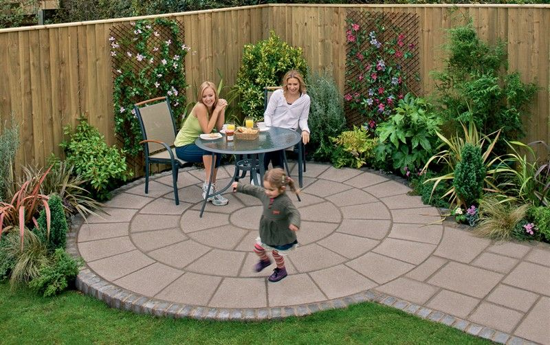 small backyard paving ideas | Practical, simple garden ... on Paving Ideas For Back Gardens id=88259