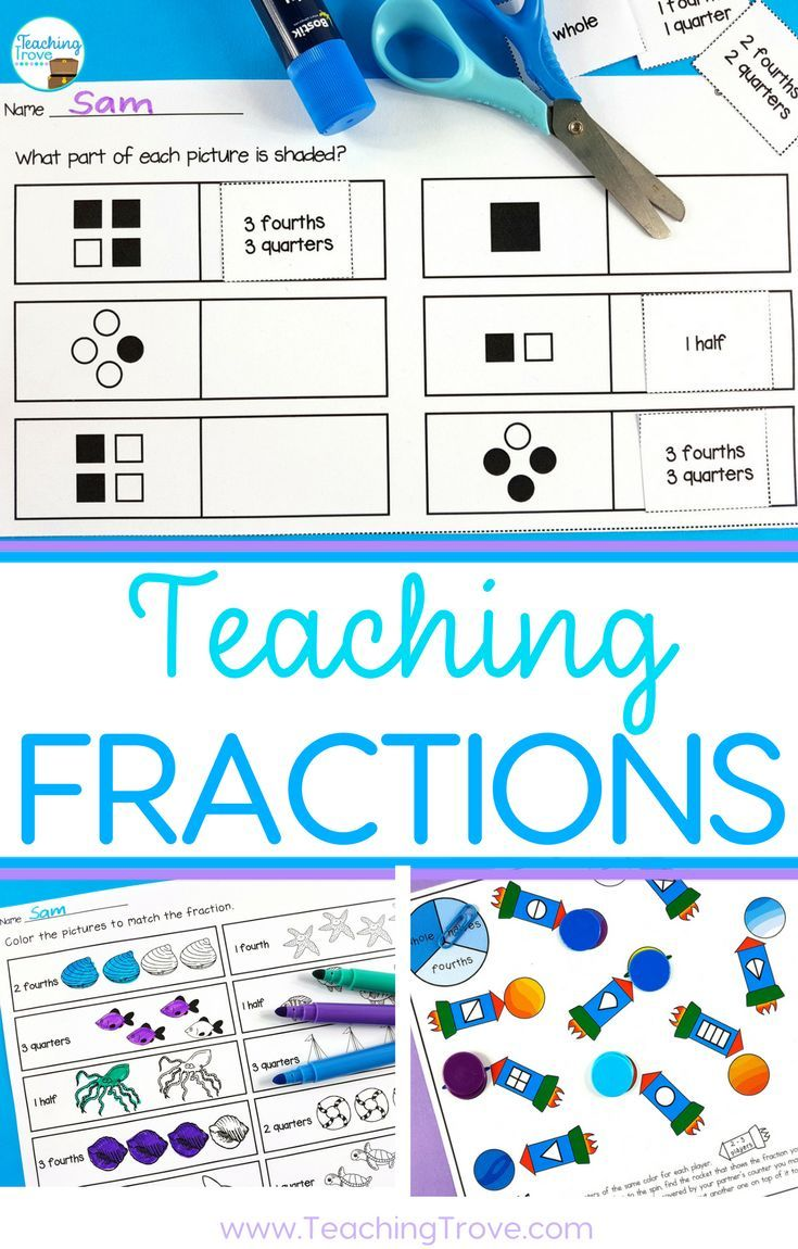 How to Make Learning Fractions Easy | Learning activities ...