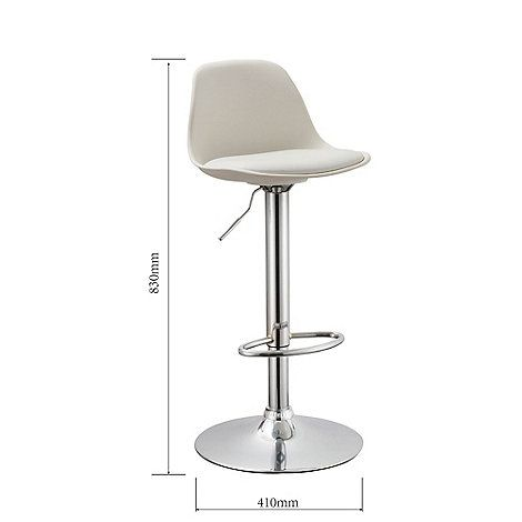 Fantastic Debenhams White Reno Gas Lift Bar Stool Debenhams Gmtry Best Dining Table And Chair Ideas Images Gmtryco