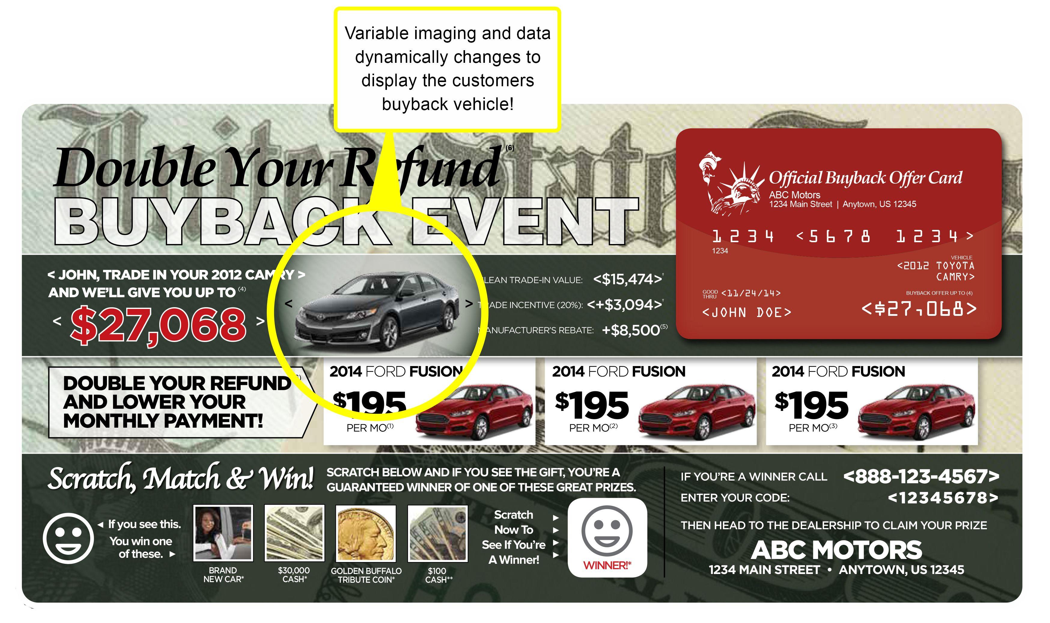 automotive direct mail tax return season marketing dealer
