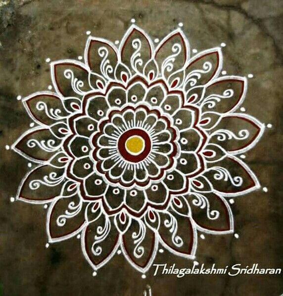 Kolam rangoli and mandala pinterest rangoli for Floor rangoli design