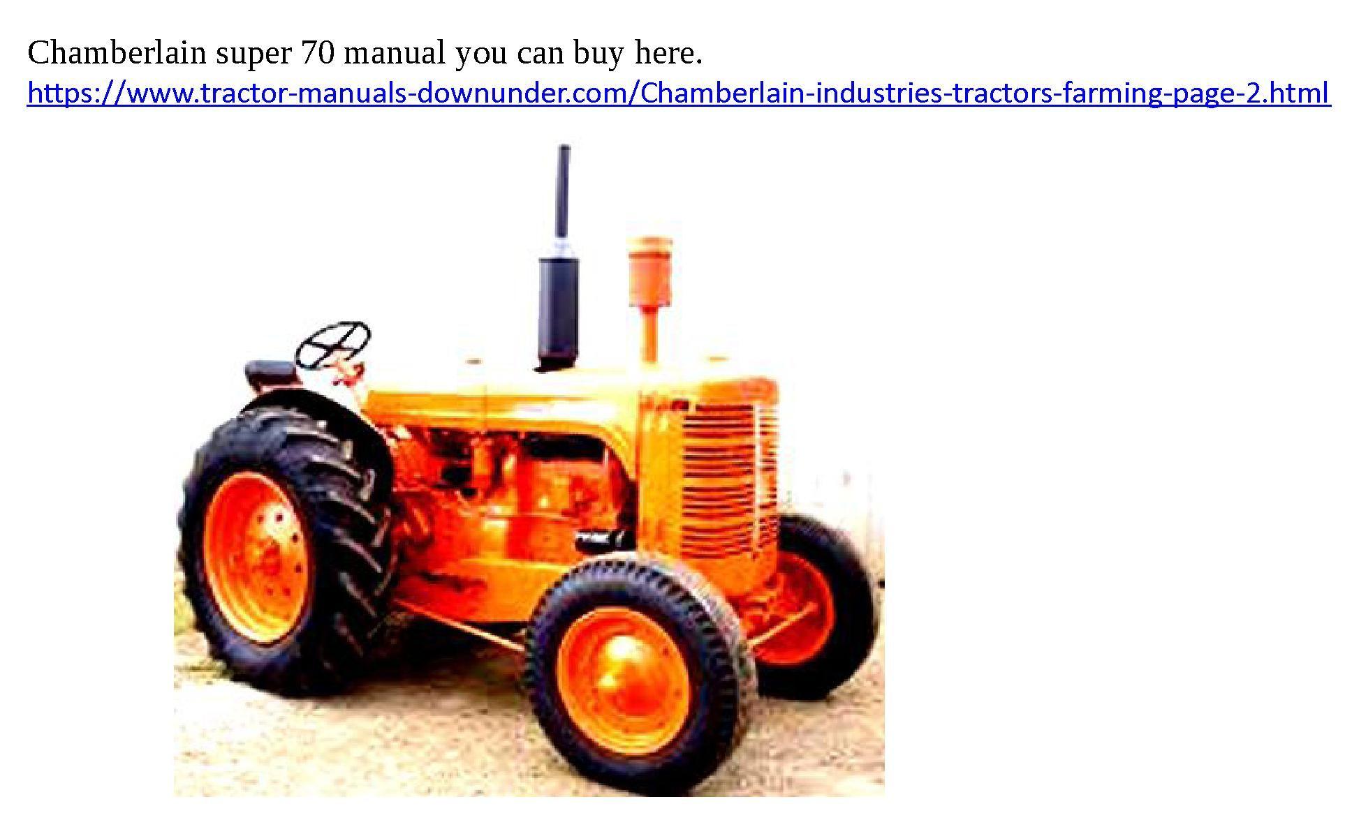 chamberlain super 70 manuals aussie farm power pinterest tractor rh pinterest com chamberlain 4080 operator's manual