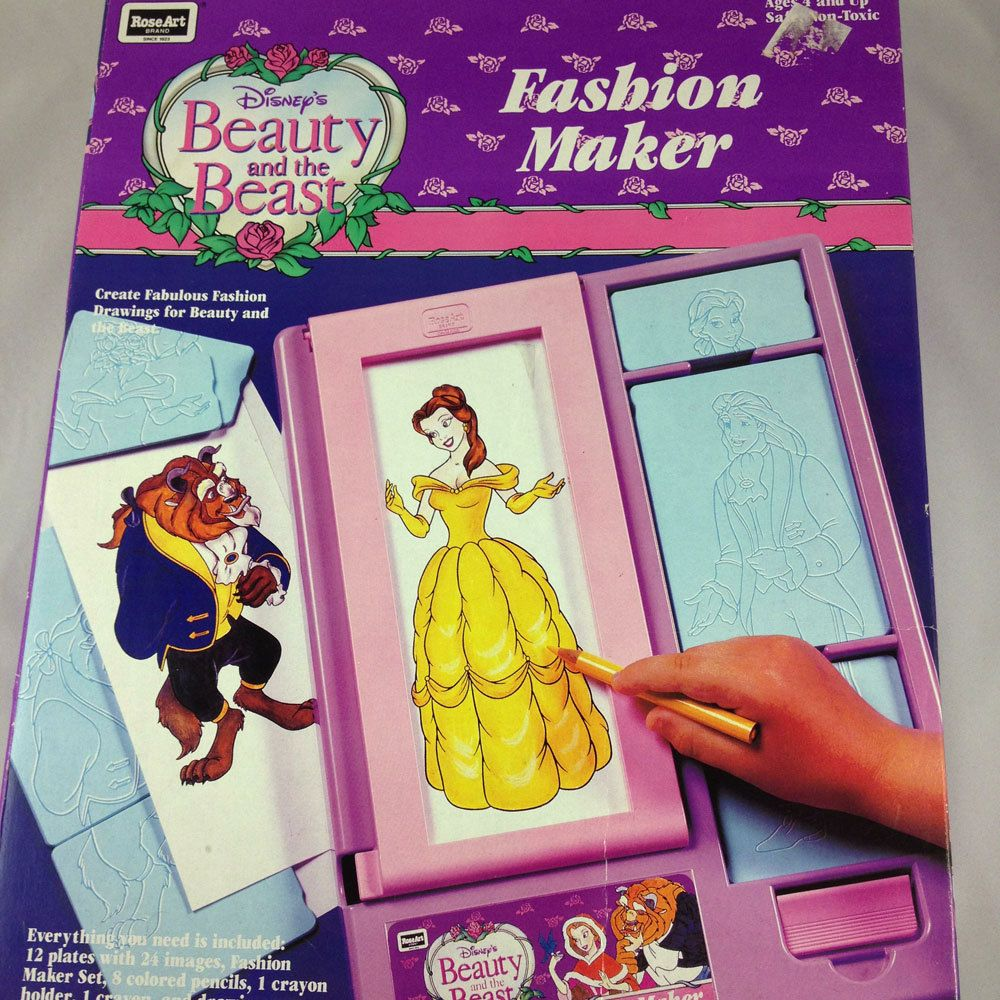 Beauty The Beast Disney Fashion Plates Coloring Toy Roseart Disney Style Disney Beauty And The Beast Rose Art