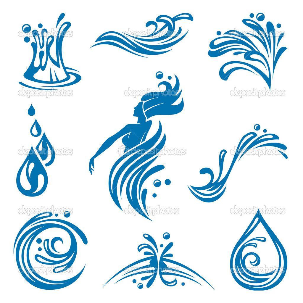 Twitter Facebook Pinterest Google Plus icon Water icon
