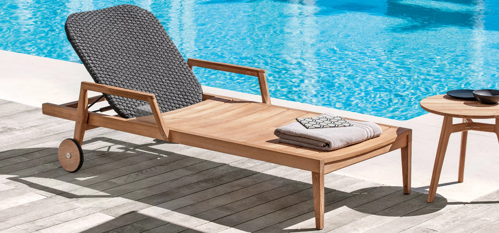Knit By Ethimo Sun Lounger Outdoor Furniture Collections Garden Furniture Sets