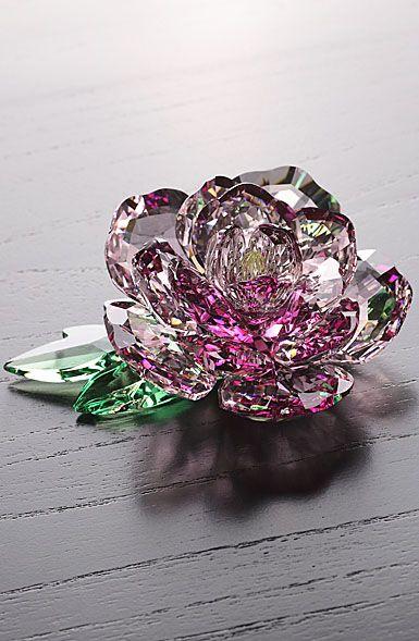 Swarovski Crystal, Paradise Peony | crystal figurines | Swarovski
