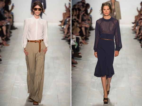 Tea Length Skirts and Yes ma'am to wide legged trousers!!! The Michael Kors Spring 2014 RTW Collection is More Than Ready to Wear