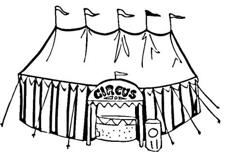 Circus Tent Coloring Page School Circus Pinterest Lion