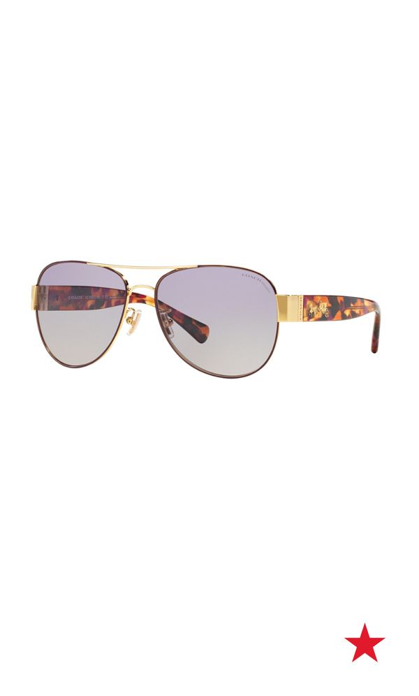 01d4a96628 Ultra-chic Coach aviators are our choice shades for festival fun in the sun.