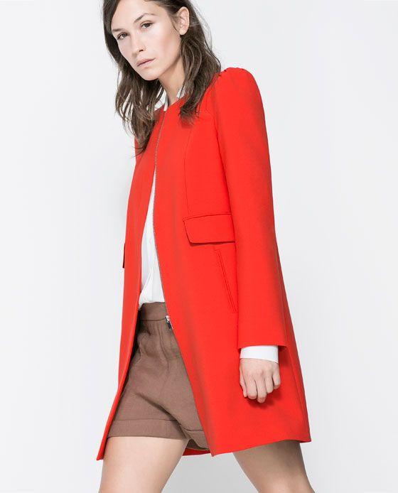 ABRIGO RIZO HOMBRO   My Style en 2019   Abrigos rojos