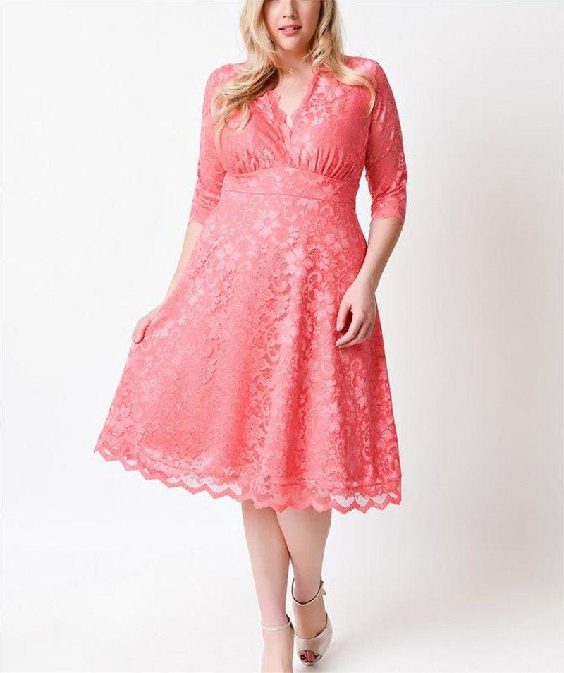 7xl women plus size lace dresses peach new elegant women green