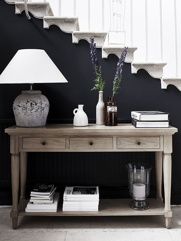 Henley console table neptunecomdark wall in back Nesting