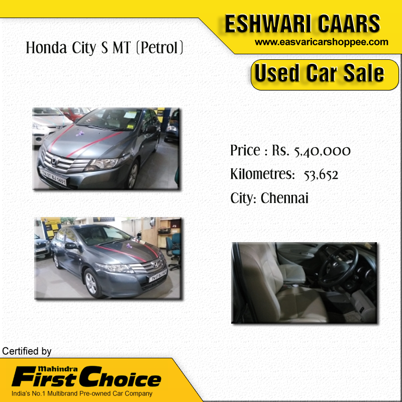 Honda City S MT (Petrol) Price Rs. 5,40,000 Kilometers